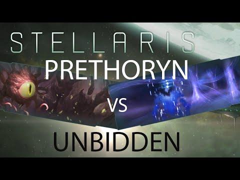 Stellaris - Prethoryn Scourge vs Unbidden   600 year timelapse