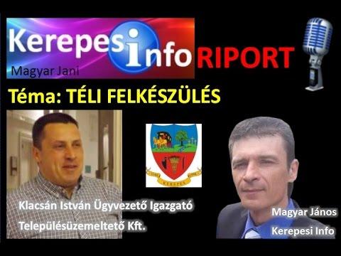 Kerepesi Info Riport 1. - 2016.11.21. Klacsán István - Téli felkészülés