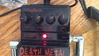 Digitech deathmetal pedal demo