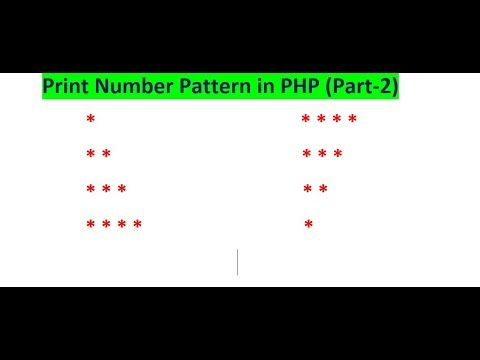 How Can Print Star Patterns In PHP  (1 To 4 Years)