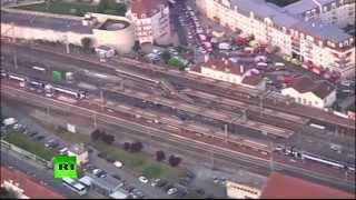 Крушение поезда на оживленной станции во Франции