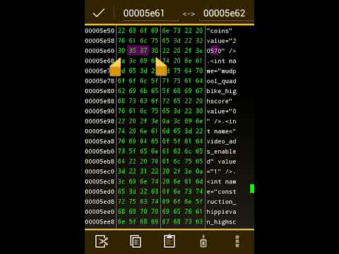 Hack any android game using  Hex Editor