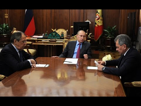 Владимир Путин провел встречу с Сергеем Лавровым и Сергеем Шойгу