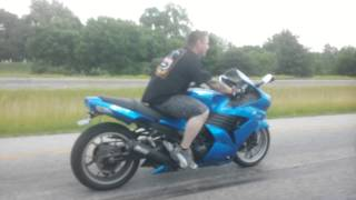 7. '06 ZX-14 Rolling Burn-out Challenge