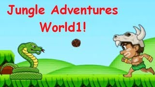 Jogos de meninas - Jungle Adventures! World 1! Boss - crocodile! Snakes, boars and cochleas! Game on Android!