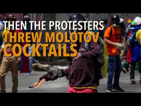 Video - Βενεζουέλα: αντικυβερνητικοί διαδηλωτές έκαψαν ζωντανούς δυο ανθρώπους