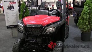 7. 2015 Honda Pioneer 500 Side By Side