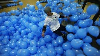 Skateboarding in 5001 Balloons Looks Super Cool!