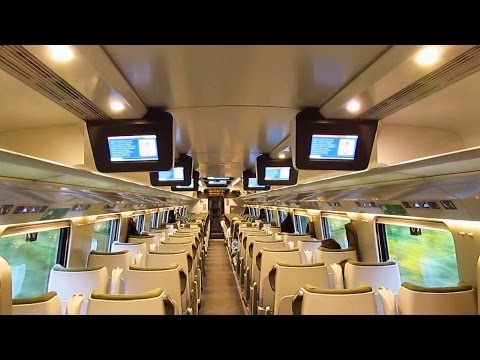 ED250 Pendolino od środka / Inside the Polish Pendolino high-speed train