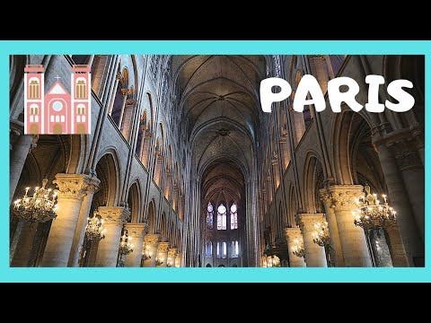 PARIS, inside the magnificent  NOTRE DAME CATHEDRAL  (France)