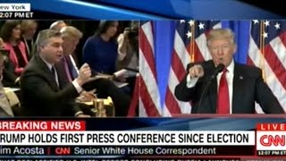 """NO! I WILL NOT GIVE YOU A QUESTION! YOU ARE FAKE NEWS!"" DONALD TRUMP TO CNN REPORTER AT PRESS CONF"