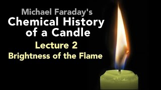 "Bill Hammack presents Lecture Two of Michael Faraday's lectures on The Chemical History of a Candle. A free companion book helps modern viewers understand each lecture — details at http://www.engineerguy.com — as does a commentary track and closed captions for each lecture.►Free Companion book to this video series http://www.engineerguy.com/faradayText of Every Lecture  Essential Background  Guides to Every Lecture  Teaching Guide & Student ActivitiesIn these lectures Michael Faraday's careful examination of a burning candle reveals the fundamental concepts of chemistry, while at the same time superbly demonstrating the scientific method. In this lecture Faraday reveals why a candle's flame is bright. To do this he investigates the properties of the flame. LINKS TO OTHER VIDEOS IN THIS SERIES► Lectures(1/6) Introduction to Michael Faraday's Chemical History of a Candlehttps://www.youtube.com/watch?v=RrHnLXMTOWM(2/6) Lecture One: A Candle: Sources of its Flamehttps://www.youtube.com/watch?v=6W0MHZ4jb4A(3/6) Lecture Two: Brightness of the Flamehttps://www.youtube.com/watch?v=B8vSLgaW9WQ(4/6) Lecture Three: Products of Combustionhttps://www.youtube.com/watch?v=31pLJyReFXw(5/6) Lecture Four: The Nature of the Atmospherehttps://www.youtube.com/watch?v=v1DWHeouJYM(6/6) Lecture Five: Respiration & its Analogy to the Burning of a Candlehttps://www.youtube.com/watch?v=Fb4RoPEtwso► Bonus Videos: Lectures with CommentaryLecture One: A Candle: Sources of its Flame (Commentary version)https://www.youtube.com/watch?v=ce0g0e9NmgQLecture Two: Brightness of the Flame (Commentary version)https://www.youtube.com/watch?v=grWNnVB9B-4Lecture Three: Products of Combustion (Commentary version)https://www.youtube.com/watch?v=0s8anLurWp0Lecture Four: The Nature of the Atmosphere (Commentary version)https://www.youtube.com/watch?v=WLgxPKU-JsILecture Five: Respiration & its Analogy to the Burning of a Candle (Commentary version)https://www.youtube.com/watch?v=tCmZfnT6_M4►Subscribe now!  https://www.youtube.com/subscription_center?add_user=engineerguyvideo►Become an advanced viewer of Engineer Guy videos - help evaluate early draftshttp://www.engineerguy.com/previewCOMPANION BOOK DETAILSThe companion book is available as an ebook, in paperback and hardcover — and for free as a PDF. Details on all versions are at http://www.engineerguy.com/faradayMichael Faraday's The Chemical History of a Candlewith Guides to the Lectures, Teaching Guides & Student ActivitiesBill Hammack & Don DeCoste190 pages  5 x 8  14 illustrationsHardcover (Casebound)  ISBN 978-0-9838661-8-0  $24.95Paper ISBN 978-1-945441-00-4 $11.99eBook  ISBN 978-0-9839661-9-7  $3.99Audience: 01 — General TradeSubjectsSCI013000   SCIENCE / Chemistry / GeneralSCI028000   SCIENCE / Experiments & ProjectsSCI000000   SCIENCE / GeneralEDU029030  EDUCATION / Teaching Methods & Materials / Science & TechnologyThis book introduces modern readers to Michael Faraday's great nineteenth-century lectures on The Chemical History of a Candle. This companion to the YouTube series contains supplemental material to help readers appreciate Faraday's key insight that ""there is no more open door by which you can enter into the study of science than by considering the physical phenomena of a candle."" Through a careful examination of a burning candle,  Faraday's lectures introduce readers to the concepts of mass, density, heat conduction, capillary action, and convection currents. They demonstrate the difference between chemical and physical processes, such as melting, vaporization, incandescence, and all types of combustion. And the lectures reveal the properties of hydrogen, oxygen, nitrogen, and carbon dioxide, including their relative masses and the makeup of the atmosphere. The lectures wrap up with a grand, and startling, analogy: by understanding the chemical behavior of a candle the reader can grasp the basics of respiration. To help readers understand Faraday's key points this book has an ""Essential Background"" section that explains in modern terms how a candle works, introductory guides for each lecture written in contemporary language, and seven student activities with teaching guides.Author BiosBill Hammack is a Professor of Chemical & Biomolecular Engineering at the University of Illinois—Urbana, where he focuses on educating the public about engineering and science. He is the creator and host of the popular YouTube channel engineerguyvideo. Don DeCoste is a Specialist in Education in the Department of Chemistry at the University of Illinois—Urbana, where he teaches freshmen and pre-service high school chemistry teachers. He is the co-author of four chemistry textbooks."