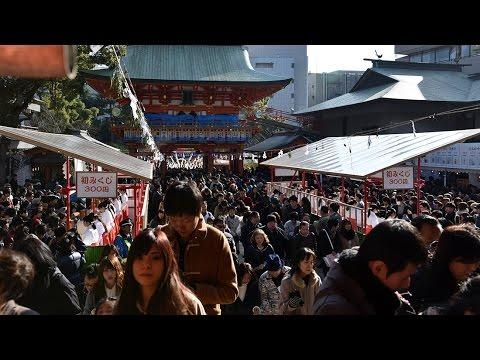 初日の出と初詣(生田神社、湊川神社、長田神社)