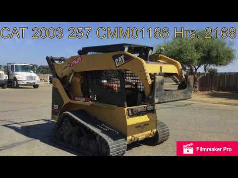 CATERPILLAR SKID STEER LOADERS 257 equipment video B8xLnHnc8iE