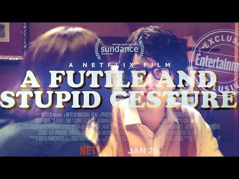 A FUTILE AND STUPID GESTURE Official Trailer 2018 Will Forte, Doug Kenney Come