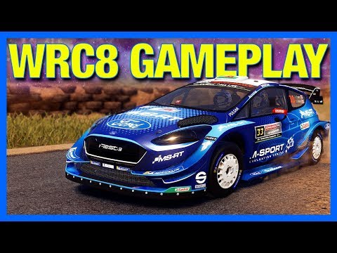 Destroying Rally Cars in WRC 8