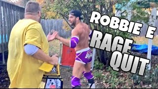 I'M GETTING SUED! WRESTLING STAR ROBBIE E RAGE QUIT REACTION!
