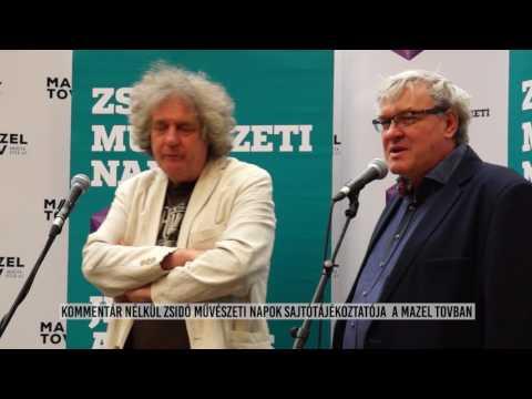 Zsidó Művészeti Napok Sajtótájékoztató 2017