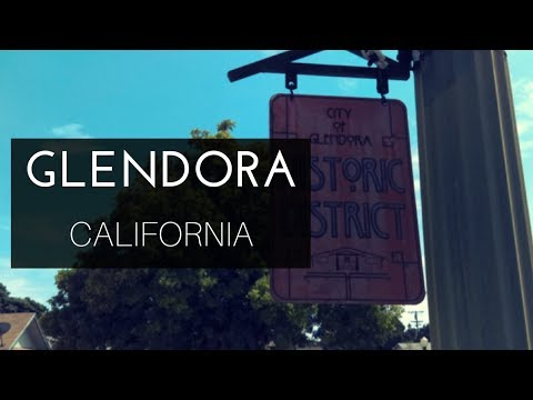 A Walking Tour Of Glendora, CA - Great Houses, Cool Shops (видео)
