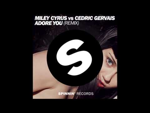 Miley Cyrus vs Cedric Gervais - Adore You (remix) (Lyric video)