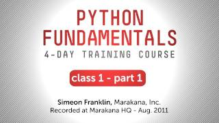 Python Training - Getting Started with Python