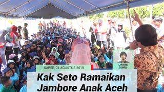 Kak Seto Hibur Peserta Jambore Anak di Saree, Aceh Besar.