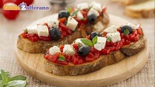 Bruschetta caprese - Italian recipe