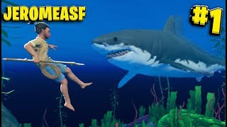 5,000 Likes And We Make This A Series - Big Ocean Survival Adventure - Raft Survival w/ JeromeASF #1