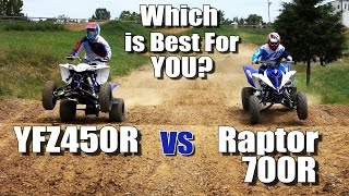 4. Yamaha Raptor 700R vs YFZ450R Shootout. Which is Best for You?