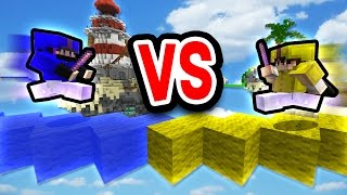JOUSTING WITH KNOCKBACK STICKS! (Minecraft Bed Wars)