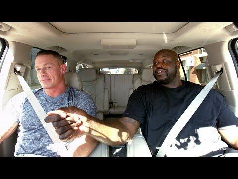 """شكيل أونيل وجون سينا يشتبكان في وصلة """"قلش"""" داخل سيارة Carpool Karaoke"""