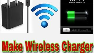 HOW TO MAKE WIRELESS MOBILE CHARGER.AT HOME .WI-FI   SMART PHONE CHARGER Video