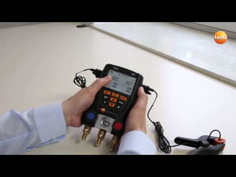 testo 550 Refrigeration Manifold - Step 2 - How to Set Up Ba