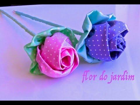come realizzare una splendida rosa in tessuto