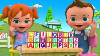 Little Baby & Girl Fun Play Learning Alphabets ABC Blocks Wooden Toy Set 3D Kids Educational Video