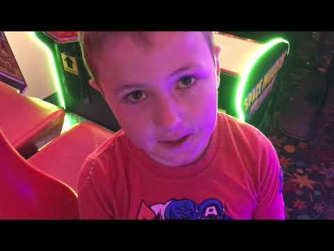 Playing Arcade Games at Fantasy World In Cleethorpes