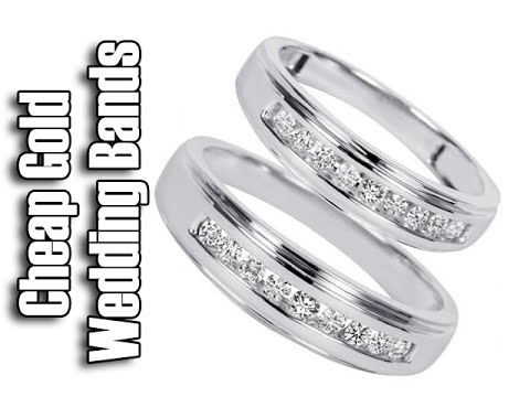 Cheap White Gold Wedding Rings - His And Hers Wedding Band Sets-White Gold Wedding Band Sets