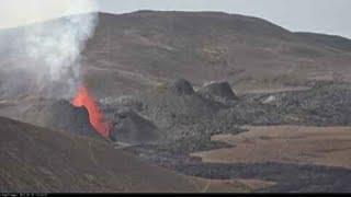 大迫力!アイスランド【ケルティンカタリル】火山活動の様子Live from the volcano