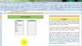 Listas desplegables dependientes - Listas dinamicas