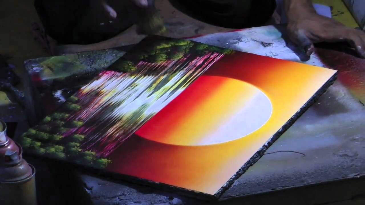 Mexican Spray Speed Painting - Moon