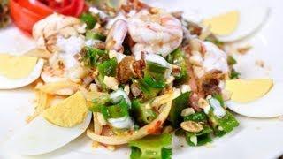 [Thai Food] Spicy Winged Bean Salad (Yum Tua Plu)
