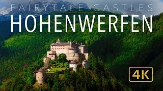 "Watch the compilation of Fairytale Castles 4K: http://bit.ly/29omiJXPlease Subscribe: http://bit.ly/1FxiVp2Please enjoy this additional (Ultra HD) aerial footage of Hohenwerfen Castle (Burg Hohenwerfen) in Werfen, Austria. This extended edit of Hohenwerfen Castle is derived from the popular video: ""Fairytale Castles 4k"" (http://bit.ly/29omiJX). Hohenwerfen Castle is known as the sister castle to Hohensalzburg Castle, only 40km away. This 11th century marvel stands at an impressive altitude of 623 metres above sea level. Hohenwerfen Castle offers impressive views over the Salzach Valley.Filmed with DJI Phantom 3 and Phantom 4 UAV.Safe and happy travels from all of us at WeWannaGo TV.www.WeWannaGo.tvwww.EarthPornFilms.com"