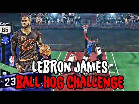 SCORE EVERY POINT WITH SAPPHIRE LEBRON JAMES OR QUICK SELL HIM?!?! NBA 2K17 Ball Hog Challenge!