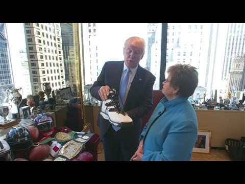 Donald Trump's Tour Of His Manhattan Office