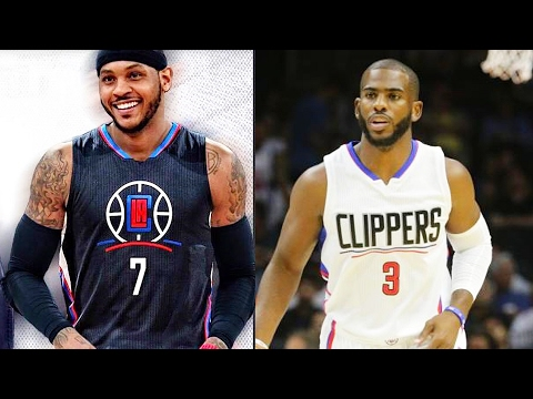 CARMELO ANTHONY JOINS CLIPPERS & GETS ROASTED BY CHRIS PAUL! NBA 2K17  Gameplay