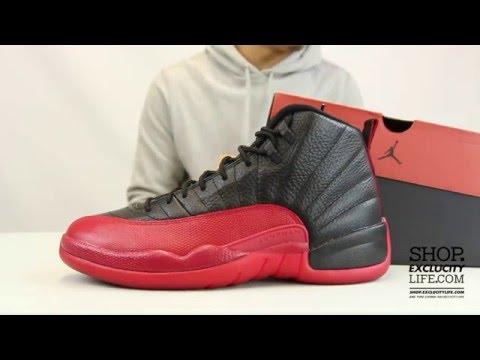 "Jordan 12 Retro ""Flu Game"" Unboxing Video at Exclucity"
