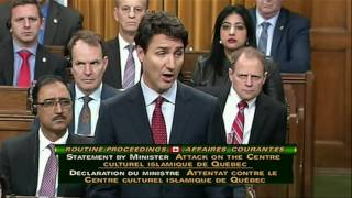 Like And Subscribe! ImJustJoshinYa! Tune in Next Time! 6 People were found dead in Quebec City, Quebec over the weekend in what is now labelled a Terrorist Attack, 2 People are now in custody. Heres the Canadian Prime Minister Justin Trudeau and his Statement.