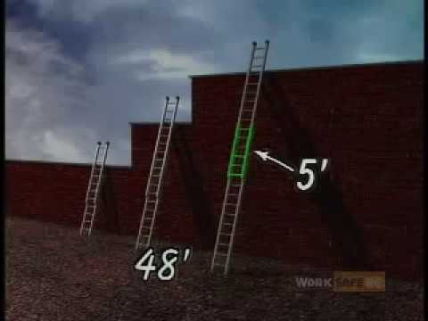safety - High quality download here: http://tinyurl.com/3b2cab Ladder Safety is a video designed to highlight the important safety procedures associated with ladder u...
