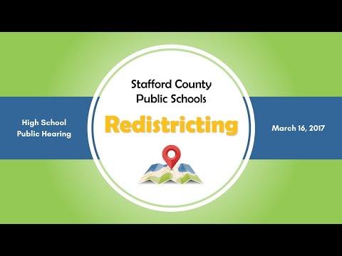 High School Redistricting Public Hearing | March 2, 2017 | Stafford County Public Schools