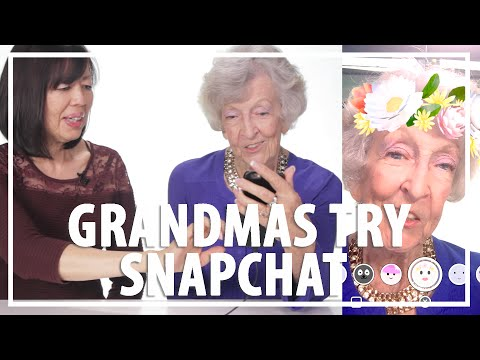 Grandmas Use Snapchat Filters for the First Time